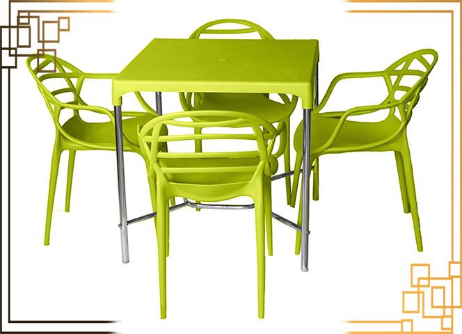 میز پلاستیکی باغی